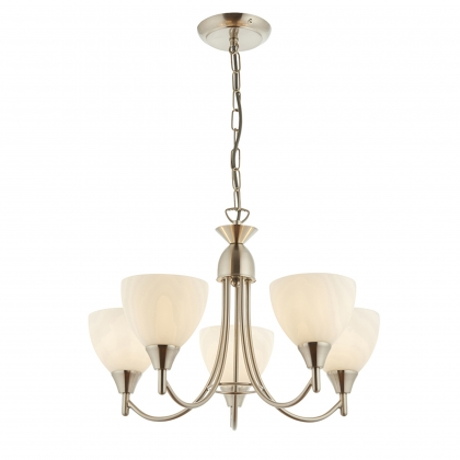 Satin Chrome 5 Light Fitting