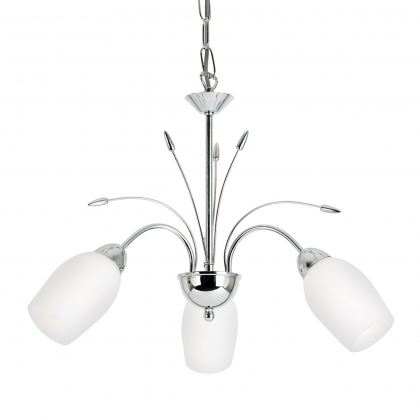 Chrome 3 Light Fitting-Barleycorn