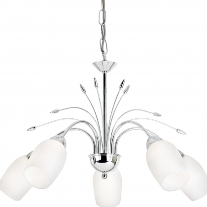 Chrome 5 Light Fitting-Barleycorn