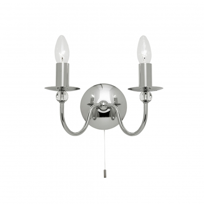 Chrome Wall Bracket with Spheres