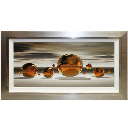 Golden Spheres Liquid Art
