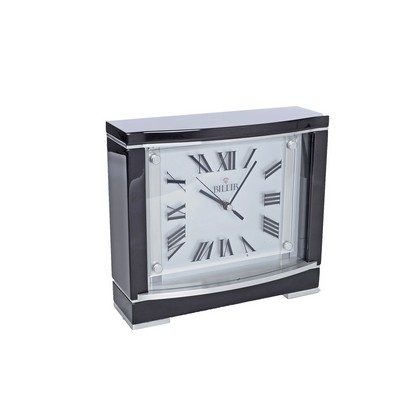Beckett Piano Black Mantel Clock