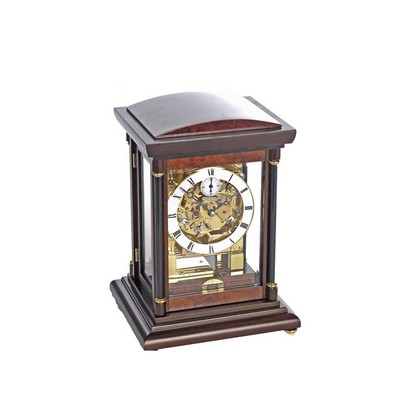 Bradley Walnut Triple Chime Mantel Clock