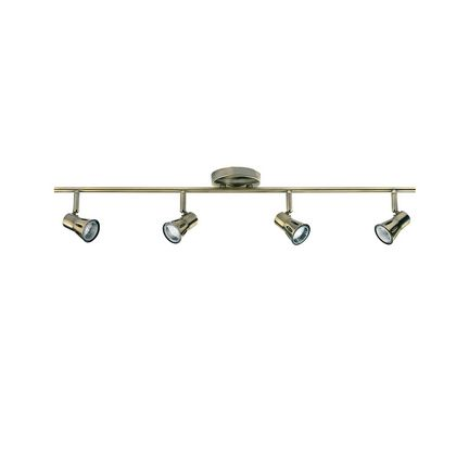 Antique Brass 4 Spot Light Bar