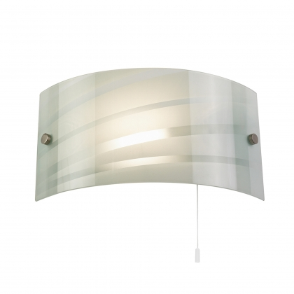 White Striped Glass Wall Bracket
