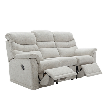 G Plan Malvern 3 Seater Double Manual Recliner Sofa