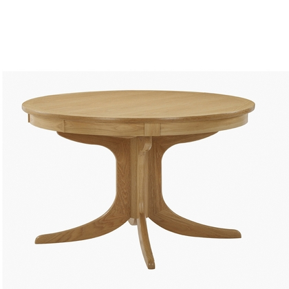 Nathan Shades Oak Circular Pedestal Dining Table