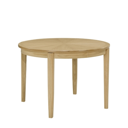 Nathan Shades Oak Sunburst Circular Dining Table on Legs