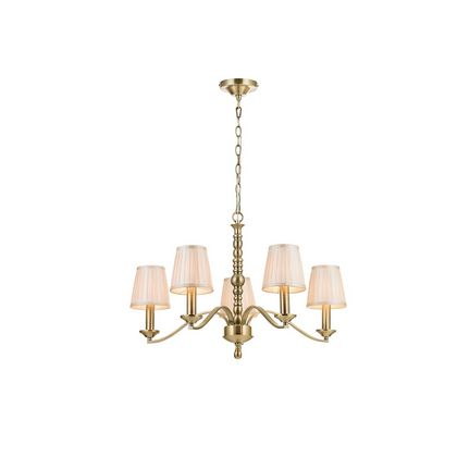 5 Light Fitting in Antique Brass