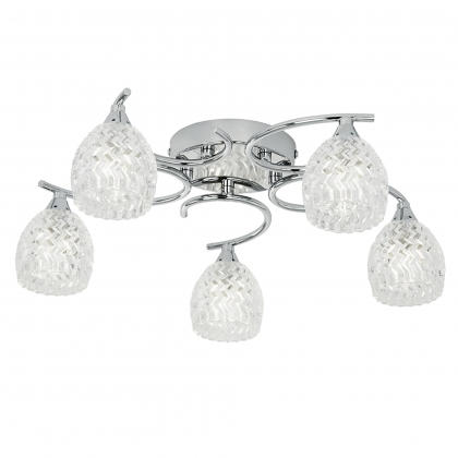 Chrome 5 Light Ceiling Fitting