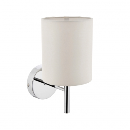 Chrome Wall Bracket with Ivory Shade