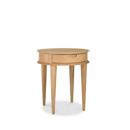 Cookes Collection Norway Oak Lamp Table With Drawer