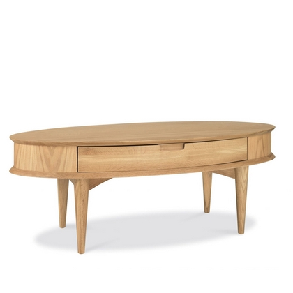 Cookes Collection Norway Oak Coffee Table With Drawer