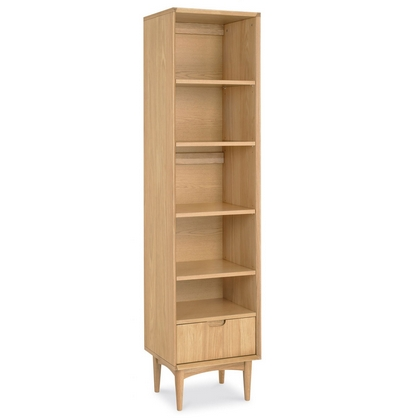 Cookes Collection Norway Oak Narrow Bookcase