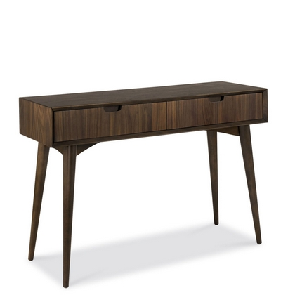 Cookes Collection Norway Walnut Console Table With Drawers