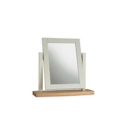 Cookes Collection Camden Soft Grey And Pale Oak Vanity Mirror