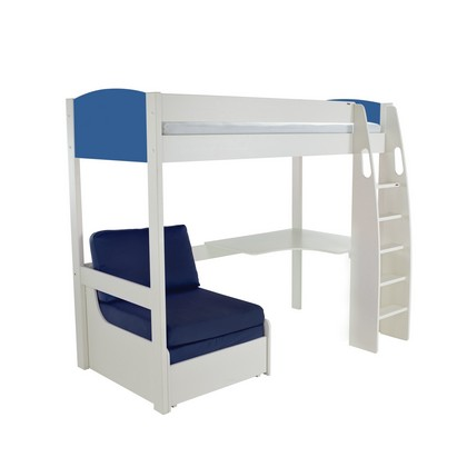 Stompa High Sleeper Chair Bed And Desk