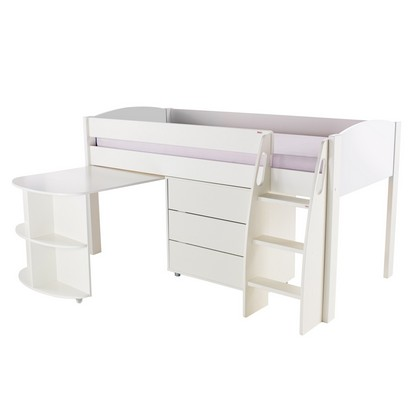 Stompa Duo Midsleeper Desk And Chest Of Drawers