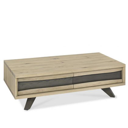 Cookes Collection Central Coffee Table With Drawers