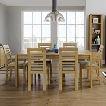 Cookes Collection Aruba Extending Dining Table And 6 Slatted Chairs