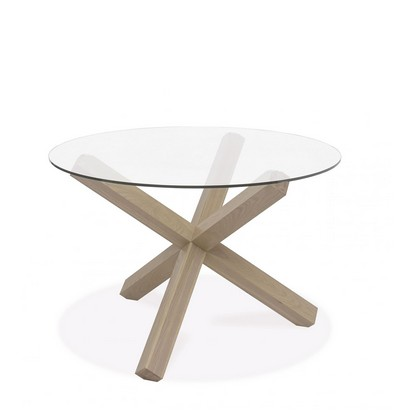 Cookes Collection Trinity Circular Glass Top Dining Table