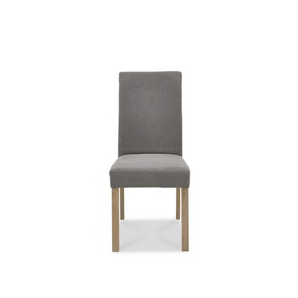 Cookes Collection Trinity Straight Back Dining Chair Smoke Grey