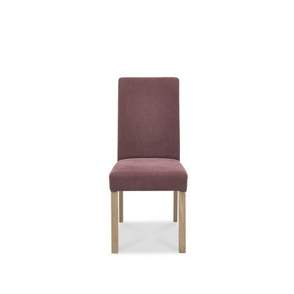 Cookes Collection Trinity Straight Back Dining Chair In Mulberry Fabric