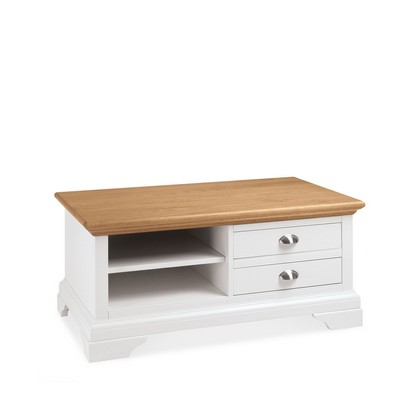 Cookes Collection Camden Two Tone Coffee Table With Drawers