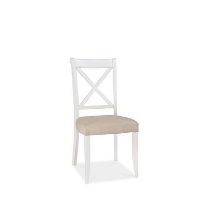 Cookes Collection Camden Two Tone X Back Dining Chair In Fabric