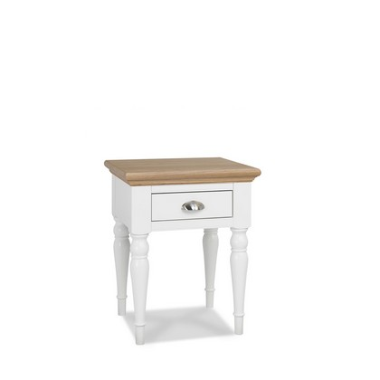 Cookes Collection Camden Two Tone Lamp Table With Turned Leg