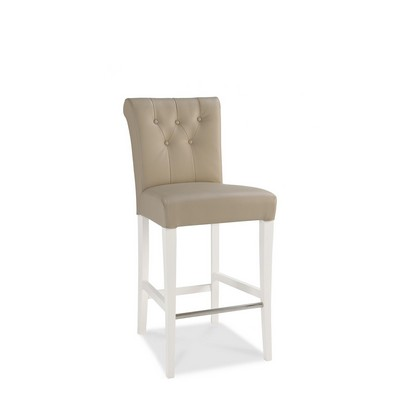 Cookes Collection Camden Two Tone Leather Upholstered Bar Stool