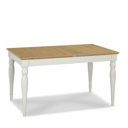 Cookes Collection Camden Soft Grey And Pale Oak Rectangular 4-6 Extending Dining Table