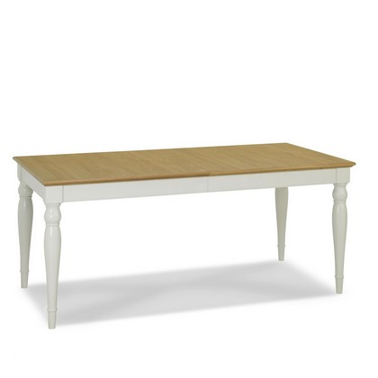Cookes Collection Camden Soft Grey And Pale Oak Rectangular 6-8 Extending Dining Table