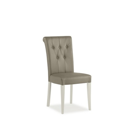 Cookes Collection Camden Soft Grey And Pale Oak Upholstered Dining Chair