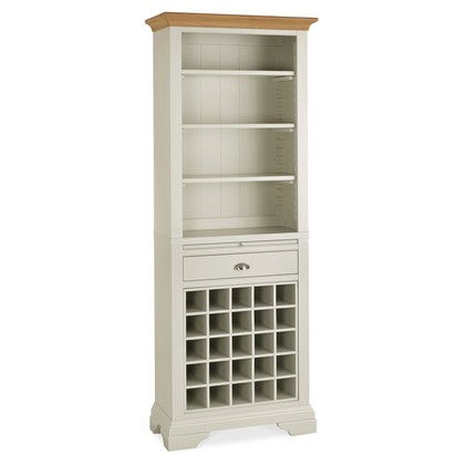 Cookes Collection Camden Soft Grey And Pale Oak Wine Rack
