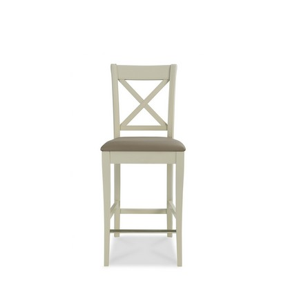 Cookes Collection Camden Soft Grey And Pale Oak X Back Bar Stool