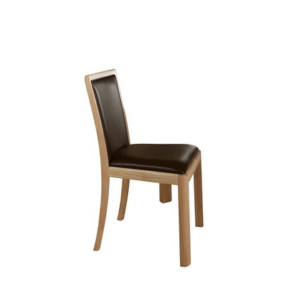 Winsor Stockholm Oak Chair with Bonded Leather