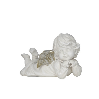 Antique Silver And White Daydream Angel Decoration