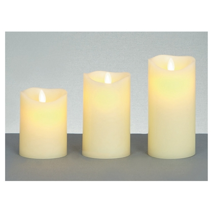 Dancing Flame Candles in Cream
