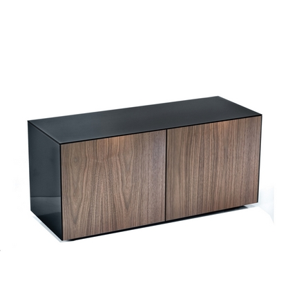 High Gloss TV Unit With Wireless Phone Charging In Black