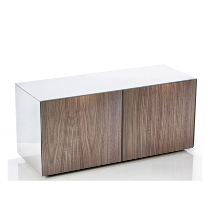 High Gloss TV Unit With Wireless Phone Charging In White