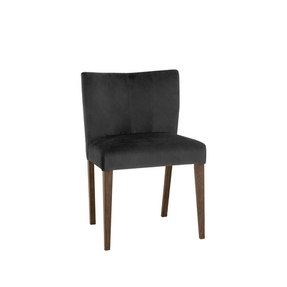 Cookes Collection Trinity Gun Metal Velvet Dining Chair