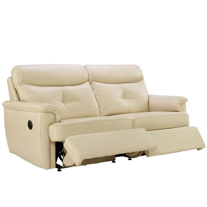G Plan Atlanta Leather 3 Seater Double Recliner