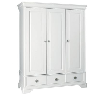 Cookes Collection Chateau Blanc Triple Wardrobe