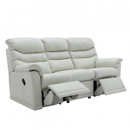 G Plan Malvern 3 Seater Double Manual Recliner Sofa In Leather