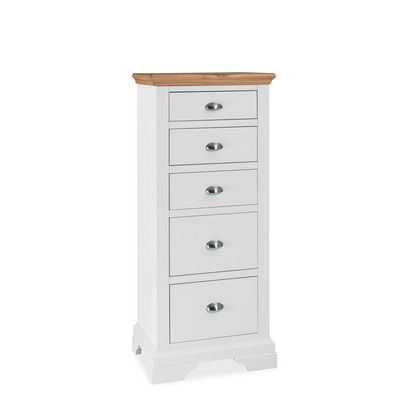 Cookes Collection Camden Two Tone Tall 5 Drawer Chest