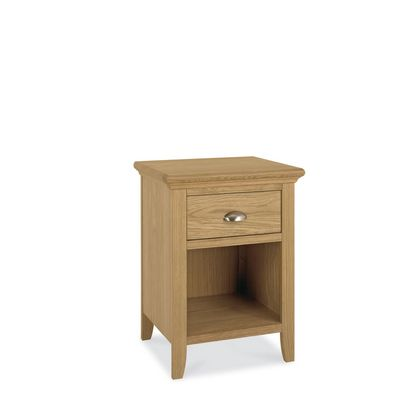 Cookes Collection Camden Oak 1 Drawer Nightstand
