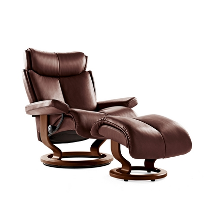 Stressless Magic Medium Chair And Stool