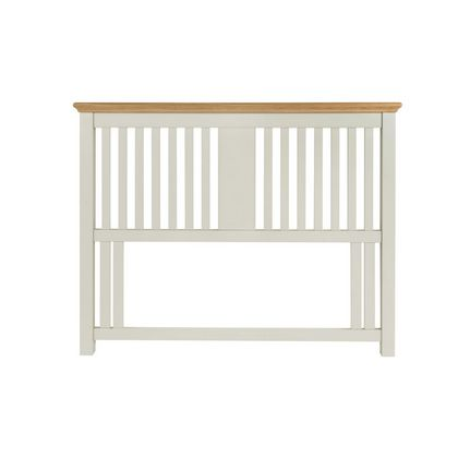 Cookes Collection Camden Soft Grey and Pale Oak Headboard Double