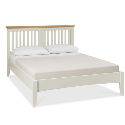 Cookes Collection Camden Soft Grey and Pale Oak Bedstead Double
